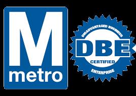 DC Metro DBE Certified logo